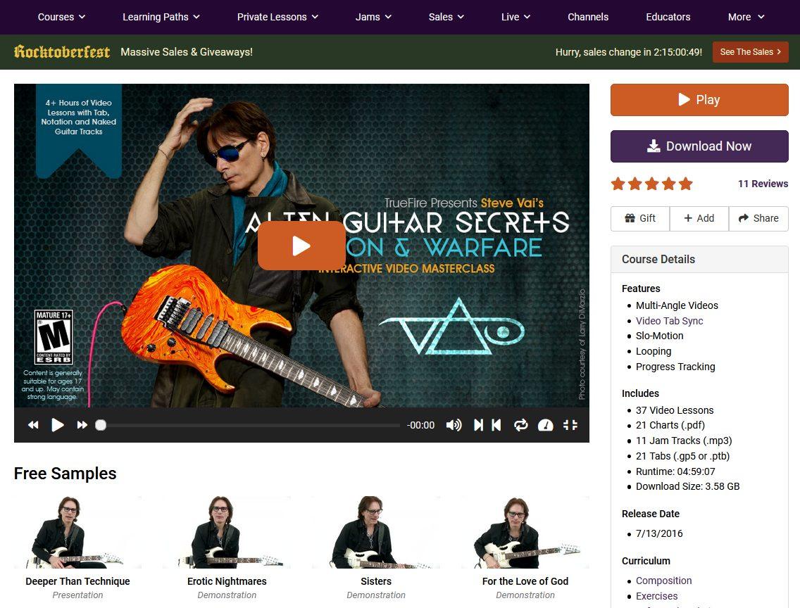 Steve Vai TrueFire Guitar Course