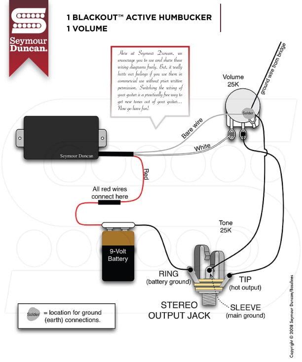 Active Humbucker Wiring Diagram