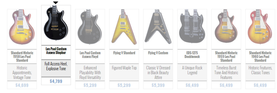 Gibson Les Paul Electric Guitar Lineup