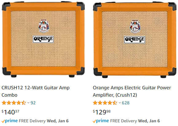 Amazon Pricing for the Crush 12
