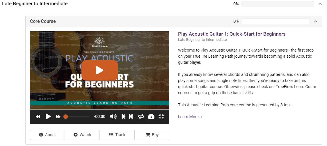 Beginner Acoustic Course in TrueFire