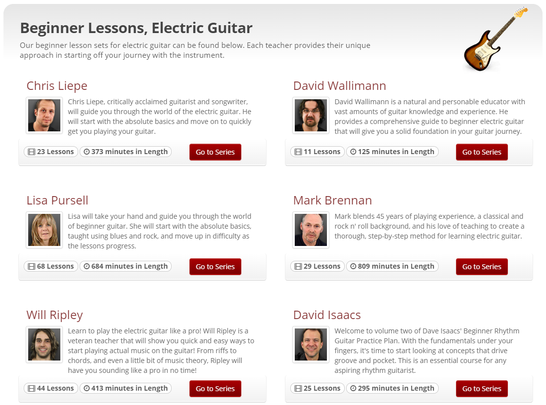 Beginner Guitar Lessons for Electric Players on JamPlay