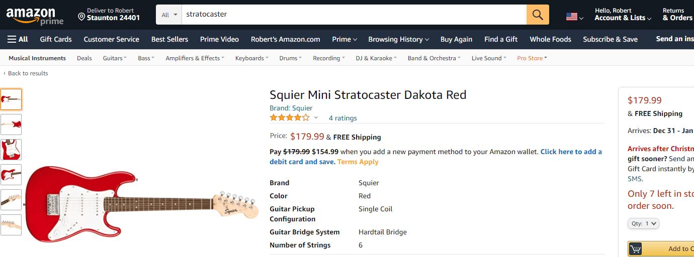 Cheap Stratocaster