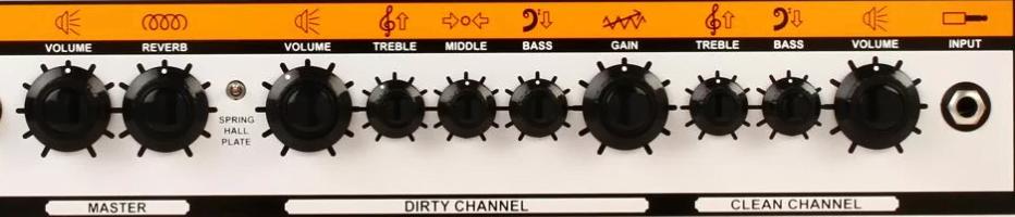 Controls on the Orange Crush 120