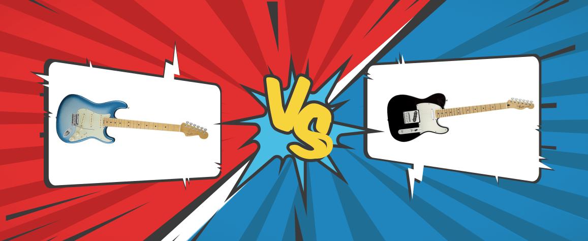 Fender Stratocaster VS Telecaster Banner Graphic
