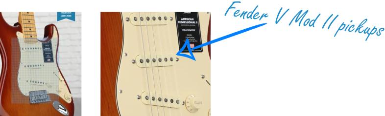 Fender V Mod II Pickups in an American Pro Stratocaster