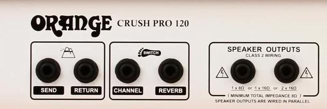 Orange Crush Pro 120 Back Panel