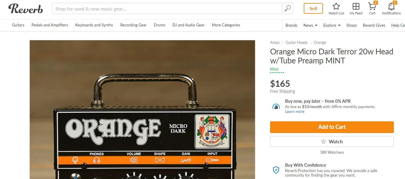 Orange Micro Dark Used Pricing on Reverb