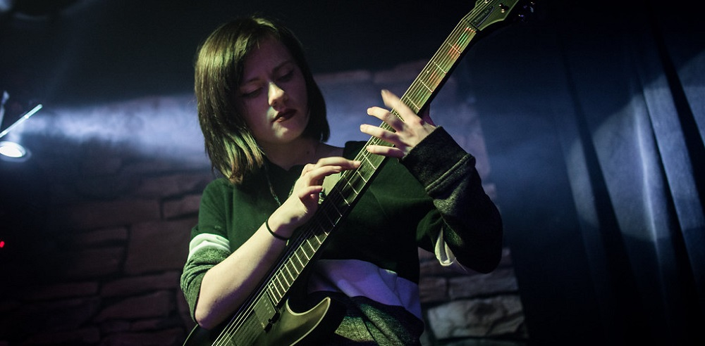 Sarah Longfield Playing Live (black guitar)