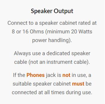Speaker Output Warning