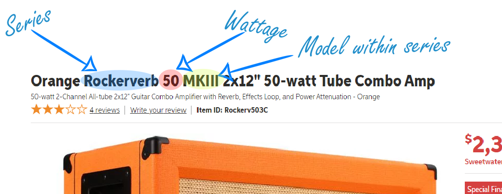 Naming Conventions for Orange Amps