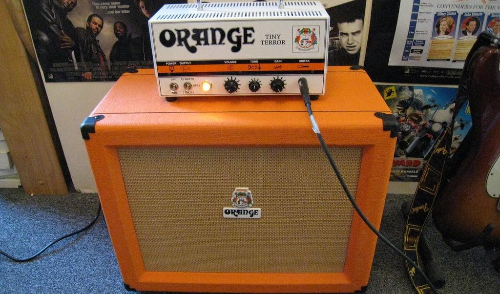Orange Amp Head and Speaker Cab