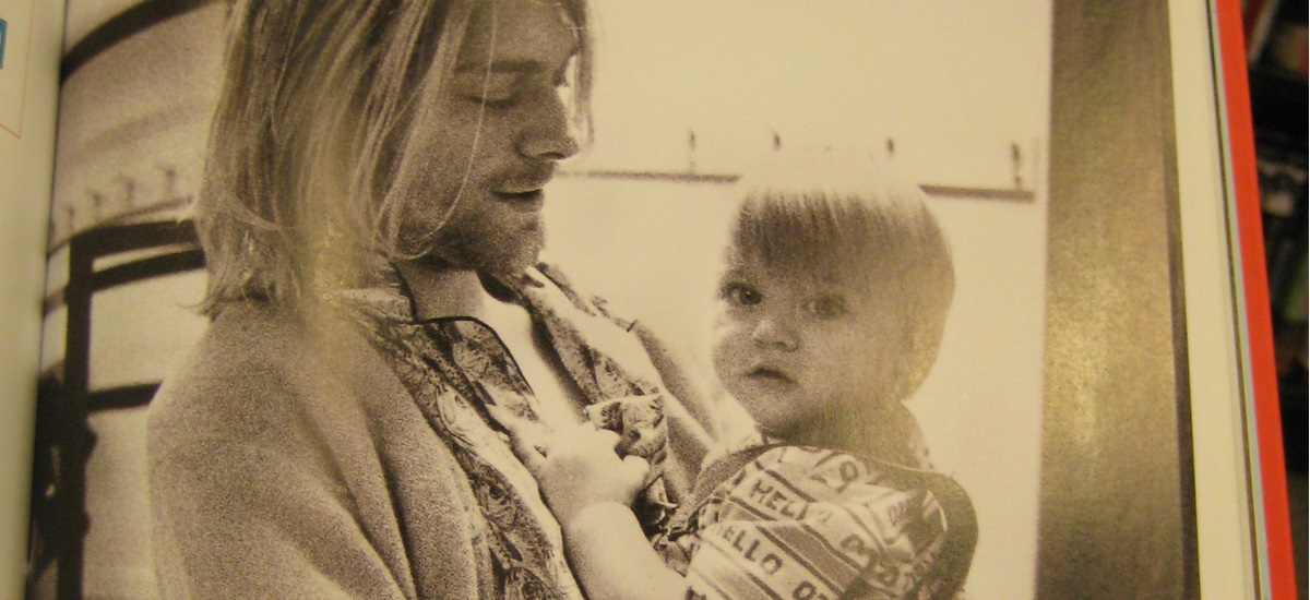 Cobain with His Daughter