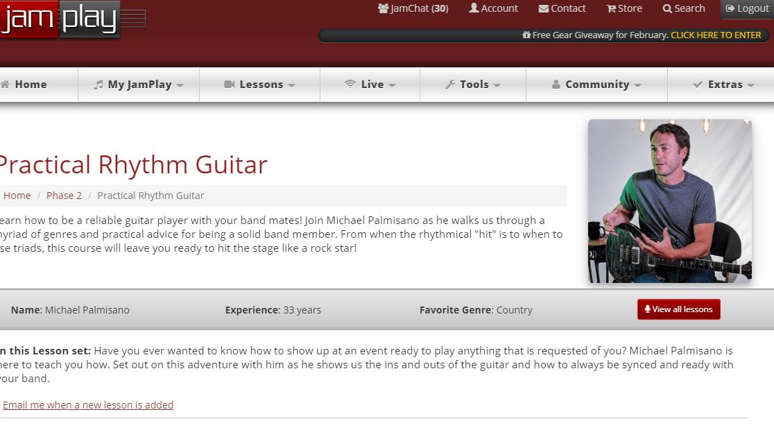 Practical Rhythm Guitar Course on JamPlay