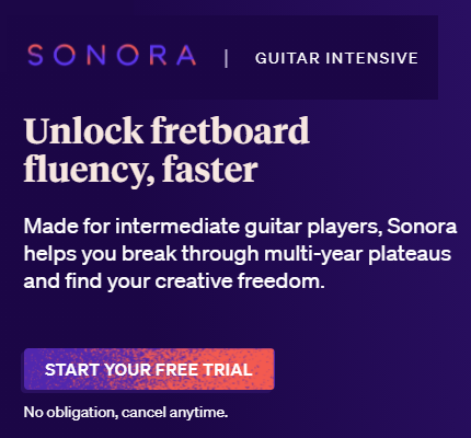Sonora Guitar Intensive Ad
