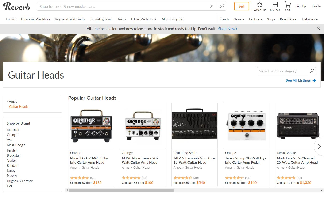 Guitar Amps on Reverb