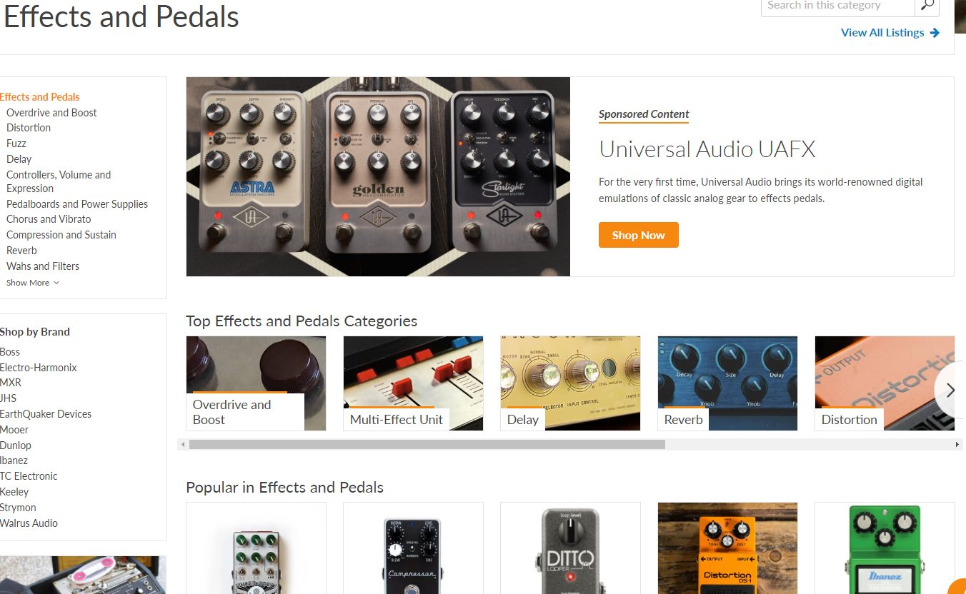Guitar Pedals on Reverb