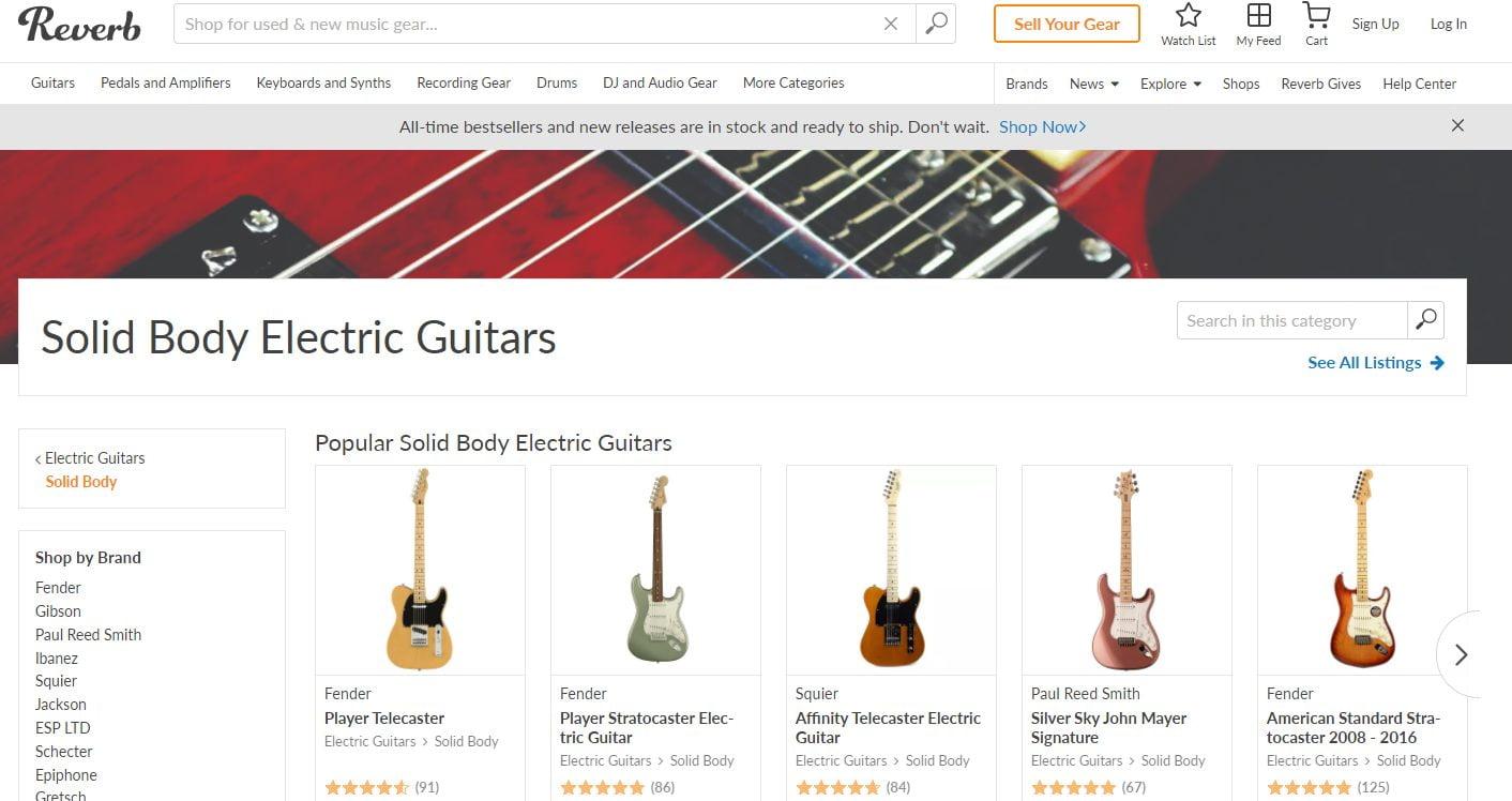 Reverb Electric Guitars