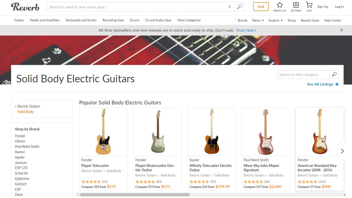 Reverb Electric Guitars