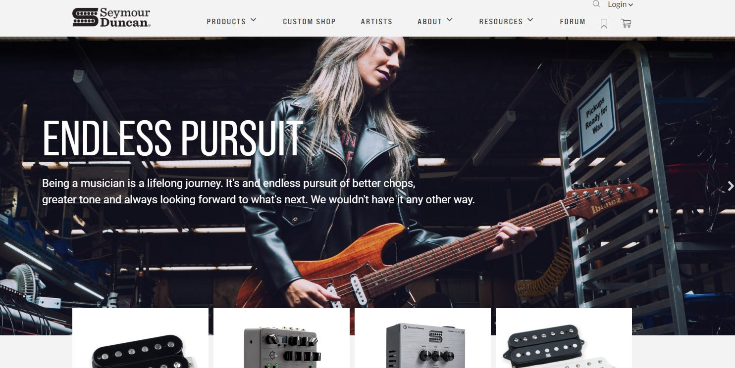 Seymour Duncan Home Page