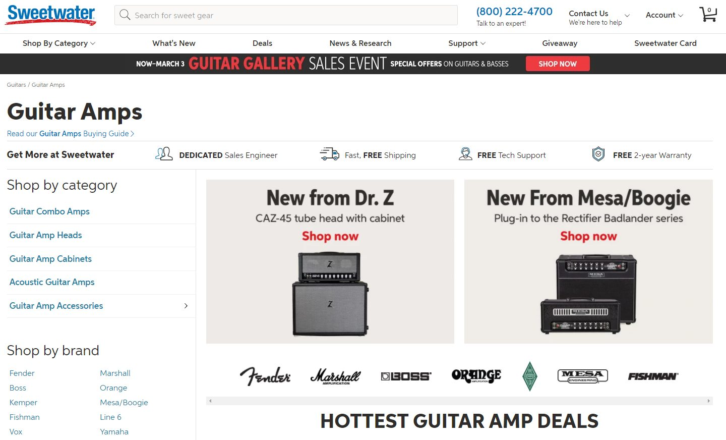 Sweetwater Amps