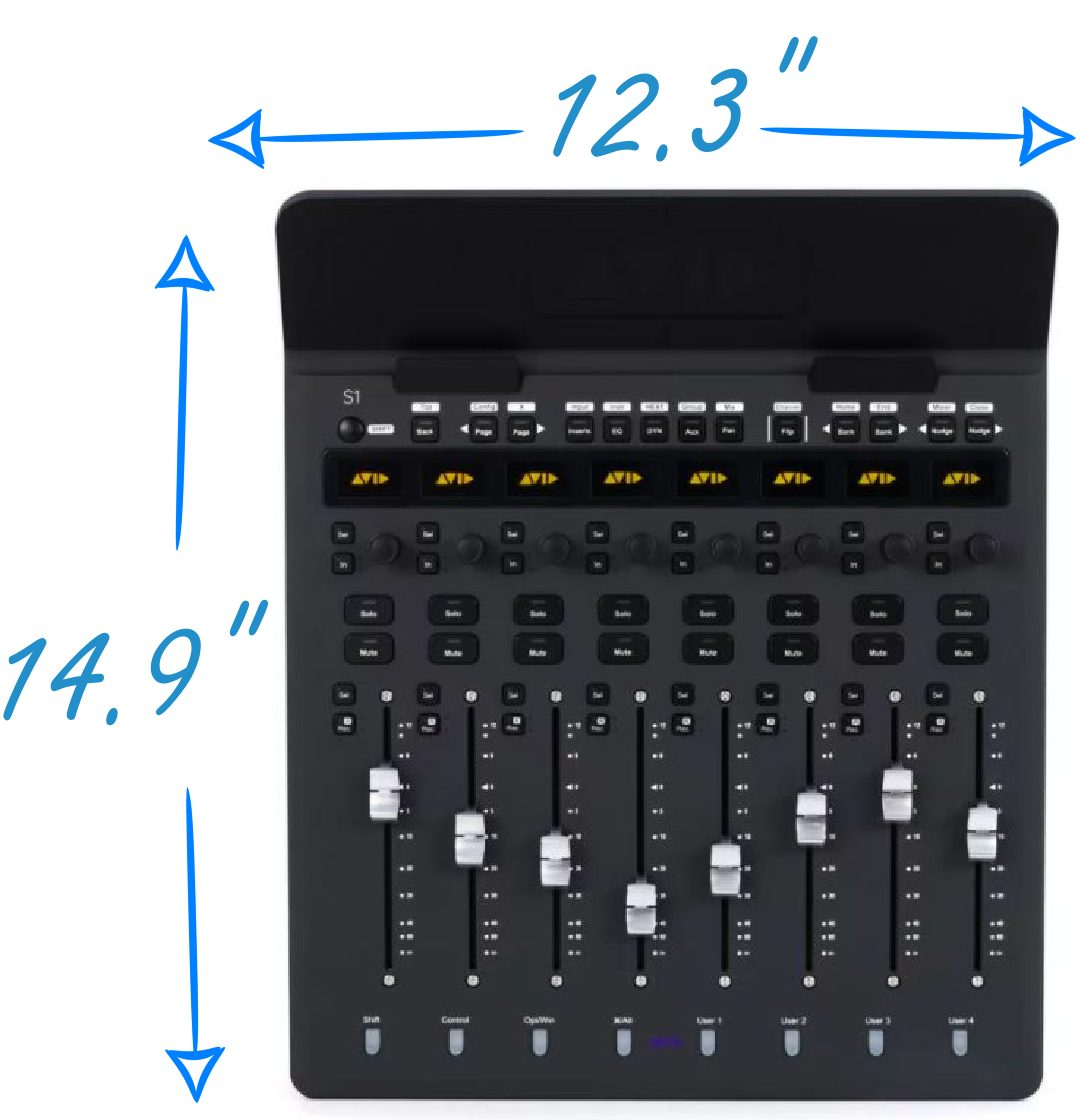 Avid S1 Dimensions without an iPad