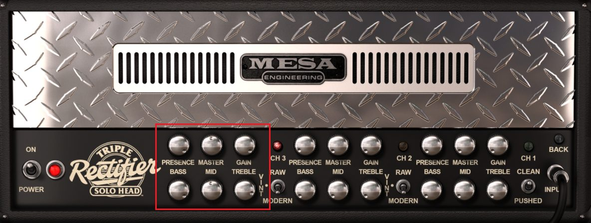 Mesa Boogie Triple Rectifier Korn Amp Settings for Dirty Channel