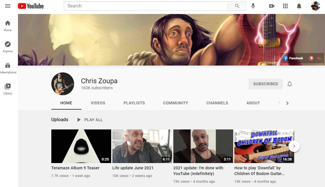 Chris Zoupa YouTube Channel