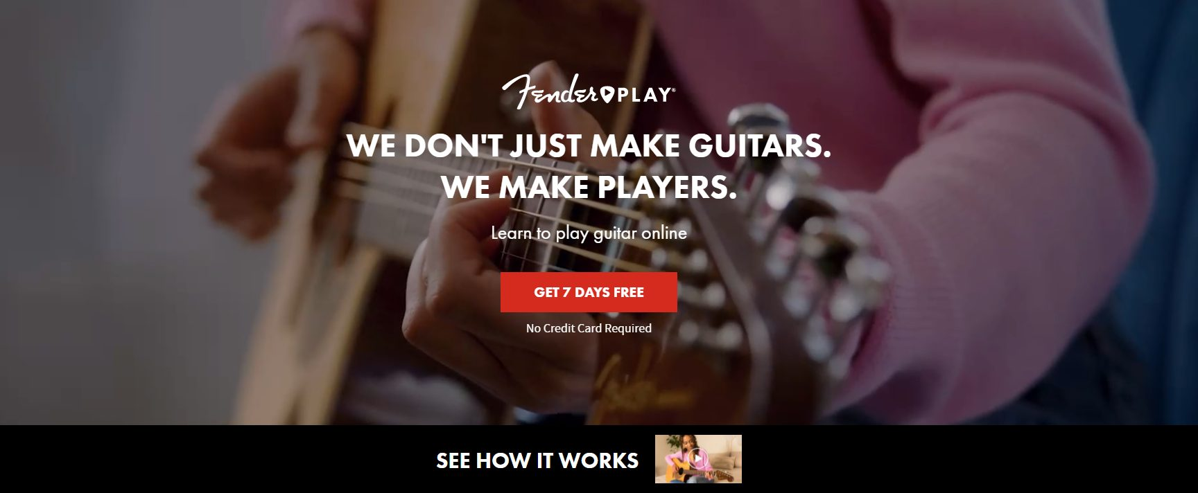 Fender Play Home Page - June 2021