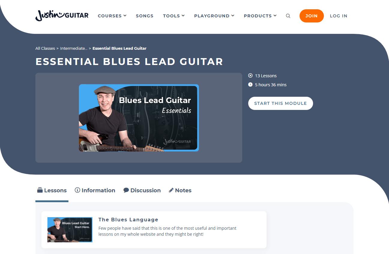Justinguitar Blues Lead 1
