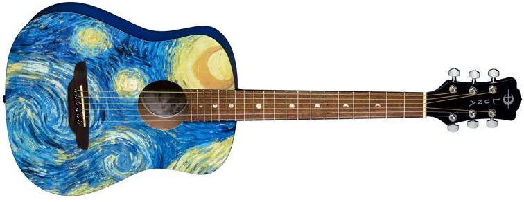 Luna Safari Starry Night Travel Guitar