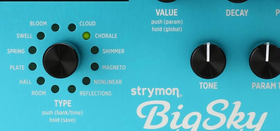 Reverb Modes (Types) on the Big Sky