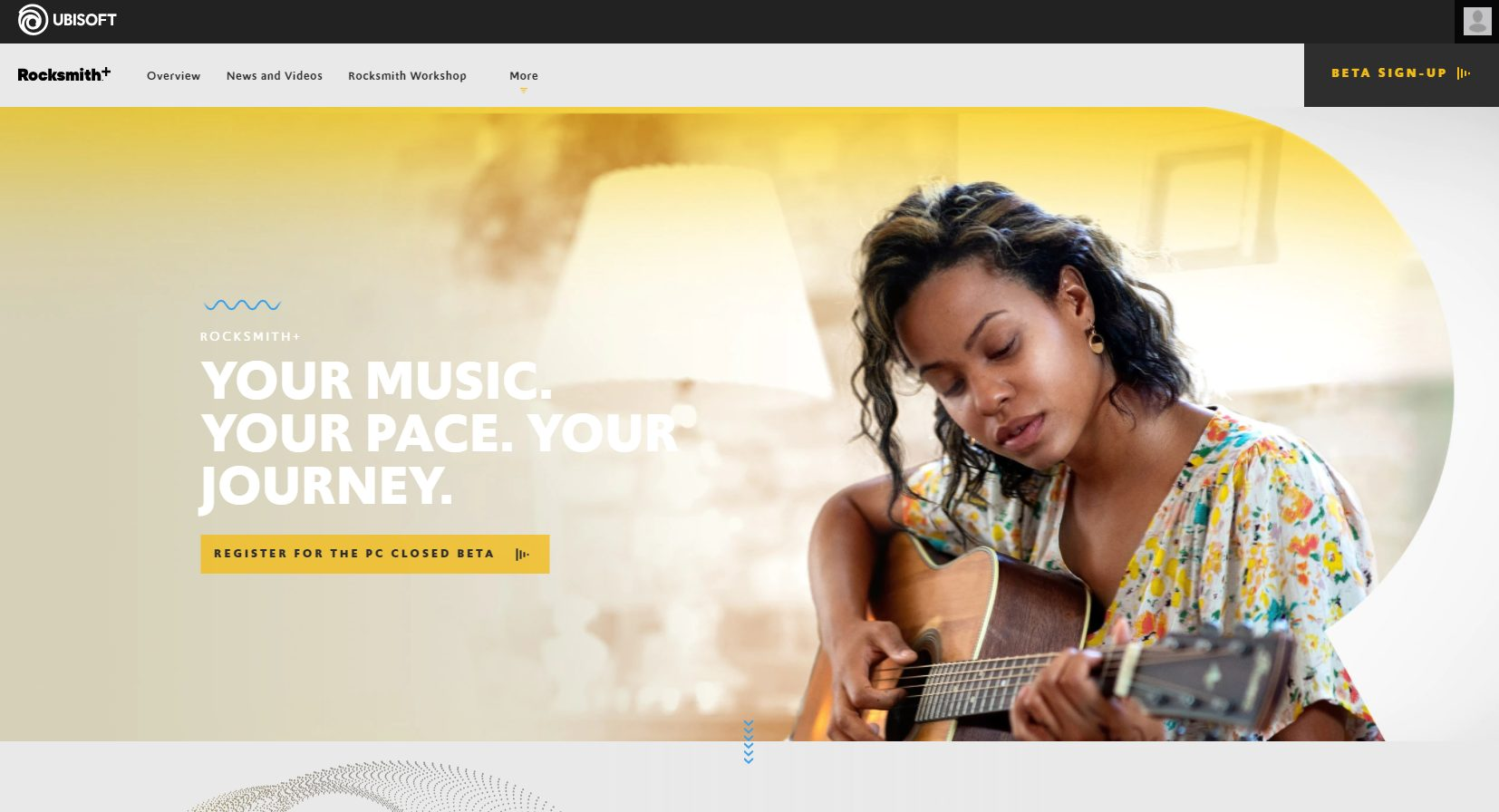 Rocksmith Plus Home Page as of June 2021