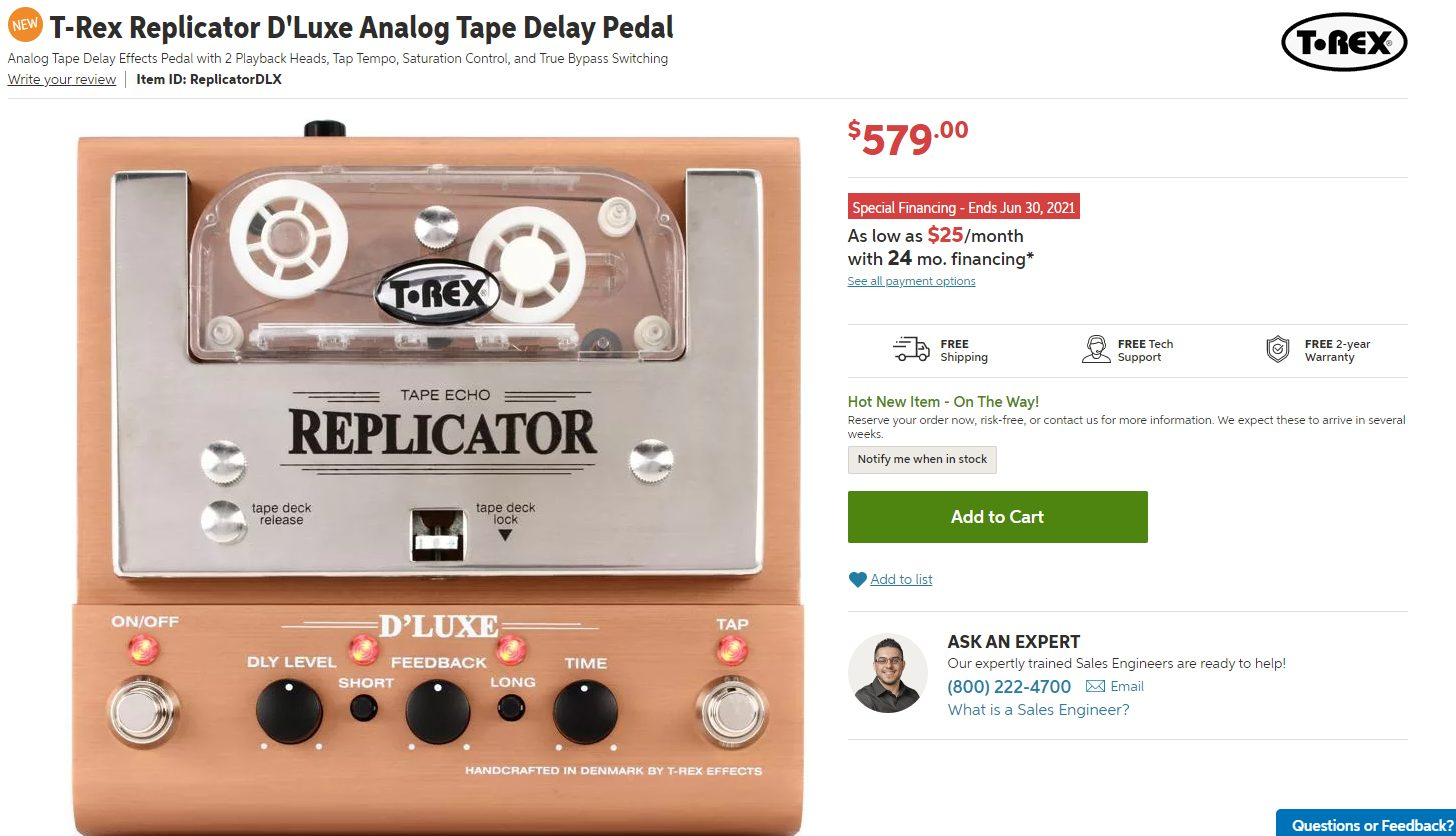 Tape Echo Example from T-Rex (the Replicator)