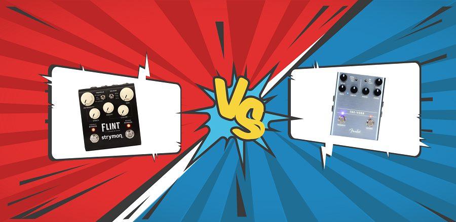 Strymon Flint VS Fender Tre-Verb Banner Graphic