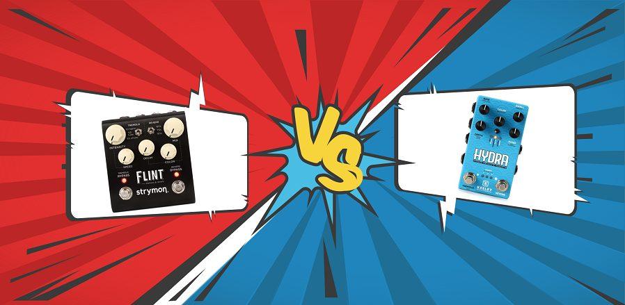 Strymon Flint VS Keeley Hydra Banner Graphic
